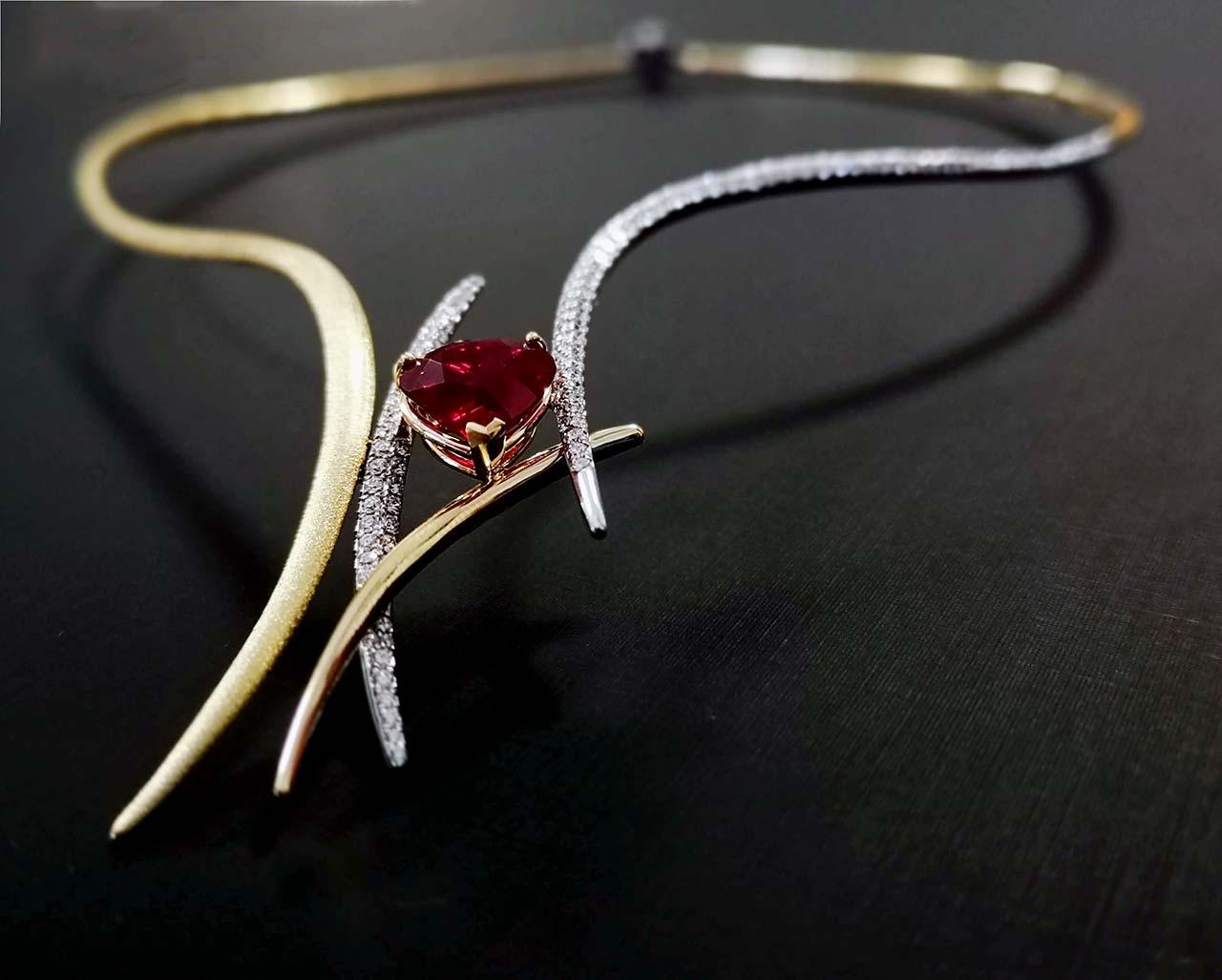 Kairos - design di gioiello realizzato dagli studenti ABA Cuneo - dettaglio